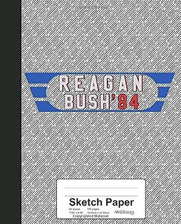 Sketch Paper: Ronald Reagan George Bush 1984 Book