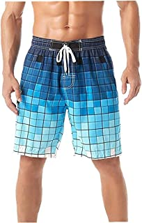 Yililay Men Beach Shorts Swimming Trunks Quick Dry Swim Suits for Board Bathing Casual Surfing Pants with Pocket 3XL