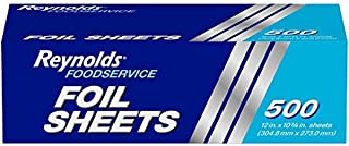 Reynolds Foodservice Aluminum Foil Sheets - 12 x 10.75 Inches, 500 Sheets