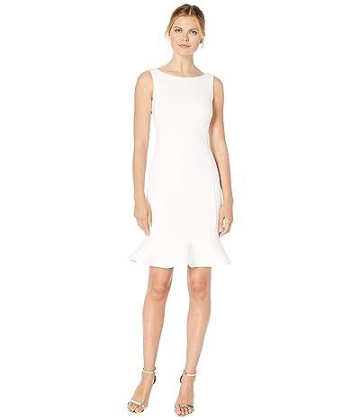 Calvin Klein Ruffle Hem Dress (Cream) Women