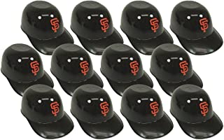 BD&A MLB Mini Batting Helmet Ice Cream Sundae/Snack Bowls-12 Pack