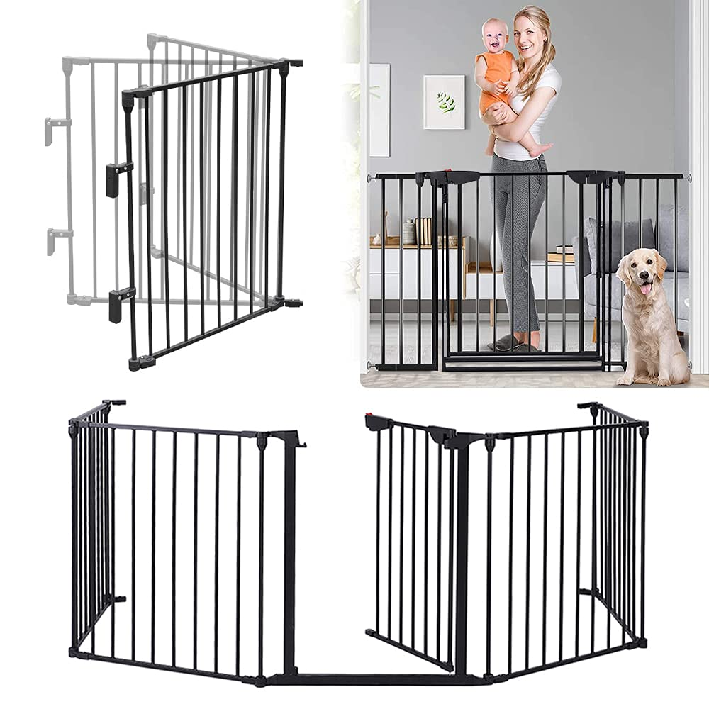 122 - Inch Baby Gate with Door キャンペーンもお見逃しなく Safety 5 Wide Extra Panels 国内在庫 Do Pet