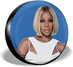 Klbno Mary J Blige Car Tire Cover Sunscreen Protective Cover Water Proof Universal Spare Wheel Tire Cover