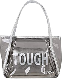 Yuwegr Damen Umhängetaschen Transparent Handtasche Mode Wild Handbag Frauen Schultertaschen Wasserdichte Strand Taschen