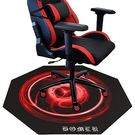 """HOMEK Chair Mat for Hardwood Floor - 47"""" X 47"""" Office Desk Chair Mat for Hard Floor Red"""