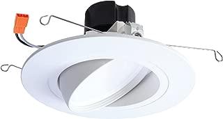 HALO RA5606927WHR 90 CRI -2700K RA Integrated LED Recessed Adjustable Gimbal Downlight Trim, 5