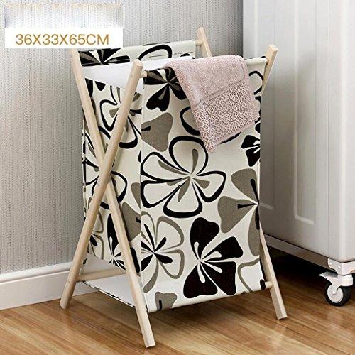 Xuan - Worth Another Le modèle Floral Noir et Blanc vêtx Le Stockage Multifonctionnel de Stockage de Stockage de Tissu de Panier de Stockage