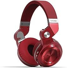 Bluedio T2 Plus Turbine Wireless Bluetooth Headphones with Mic/Micro SD Card Slot/FM Radio (Red)