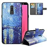 LFDZ Compatible with Samsung J8 Case/Samsung A6 Plus Case,PU...