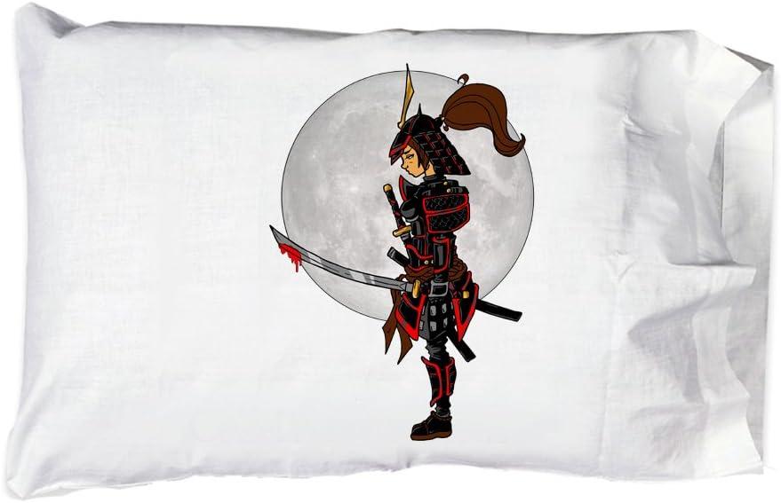 Hat Shark Pillow Superior Max 48% OFF Case Single Pillowcase Warrior Lady Samurai - S