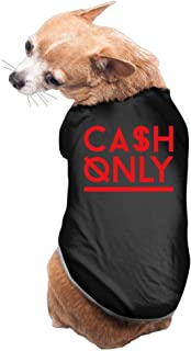 YEARla Cash Only Dog Clothes Tshirt Dress