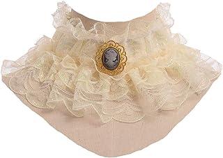 GRACEART Ruffled Desmontable Collar Isabelino Victoriano Cuello Fallar
