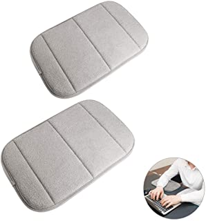 2 Pack Portable Computer Elbow Wrist Pad, Hatisan Premium Memory Cotton Desktop Keyboard Arm Rest Support Mat for Office H...
