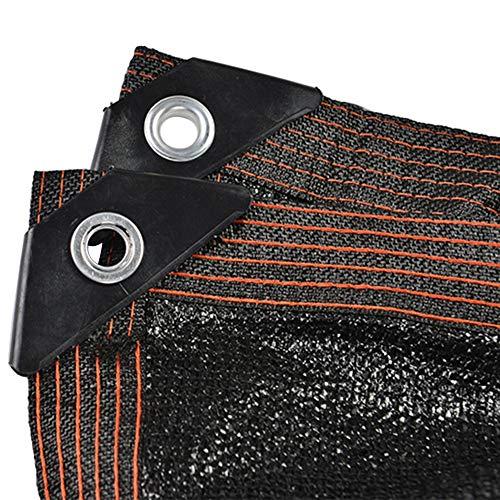 Markisen Beschattungsnetz Shade Cloth Taped Edge mit Ösen, Schwarzes Outdoor-Sonnenschutznetz für Greenhouse Barn Kennel, 2/3/4/5/6/8m Breite (Size : 6×7m)