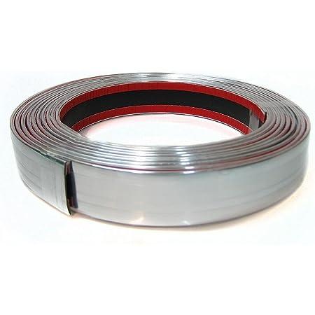 Autohobby 25mm X 5meter Zierleiste Chromleiste Universal Flexibel Selbstklebend Kunststoff Tuning Styling Chrom Auto