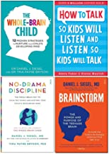 Whole-Brain Child, How To Talk So Kids Will Listen And Listen So Kids Will Talk, No-Drama Discipline, Brainstorm 4 Books Collection Set
