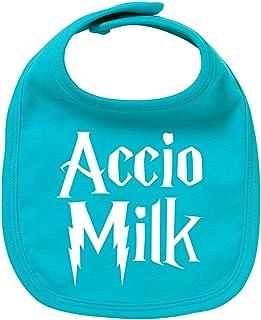 ClickInk Babero de bebé Accio milk. Regalo original. Babero bebé divertido. Bebé friki.