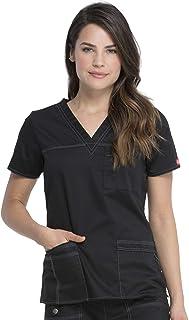 CHEROKEE Dickies Genflex - Camisa para Mujer con Cuello en V, UVA, M