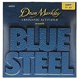 Dean Markley Blue Steel Acoustic LT 2034 - Juego de cuerdas para guitarra acústica de acero.011 -...