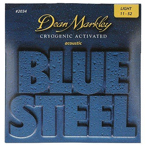 Dean Markley Blue Steel Acoustic LT 2034 - Juego de cuerdas para guitarra acústica de acero.011 - .046