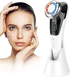 ANLAN Masajeador Facial Instrumento Multifuncional con Frío Calor Fototerapia Roja y Azul para Antiarrugas Anti-envejecim...