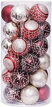 1 Box 30 Pcs Christmas Ornament Red Silver Painted Christmas Ball Set Christmas Tree Pendants