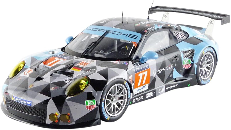 ventas calientes Spark- 18s196 Porsche 991RSR GTE Am Le Mans 2015 Negro Negro Negro gris Azul Escala 1 18  últimos estilos