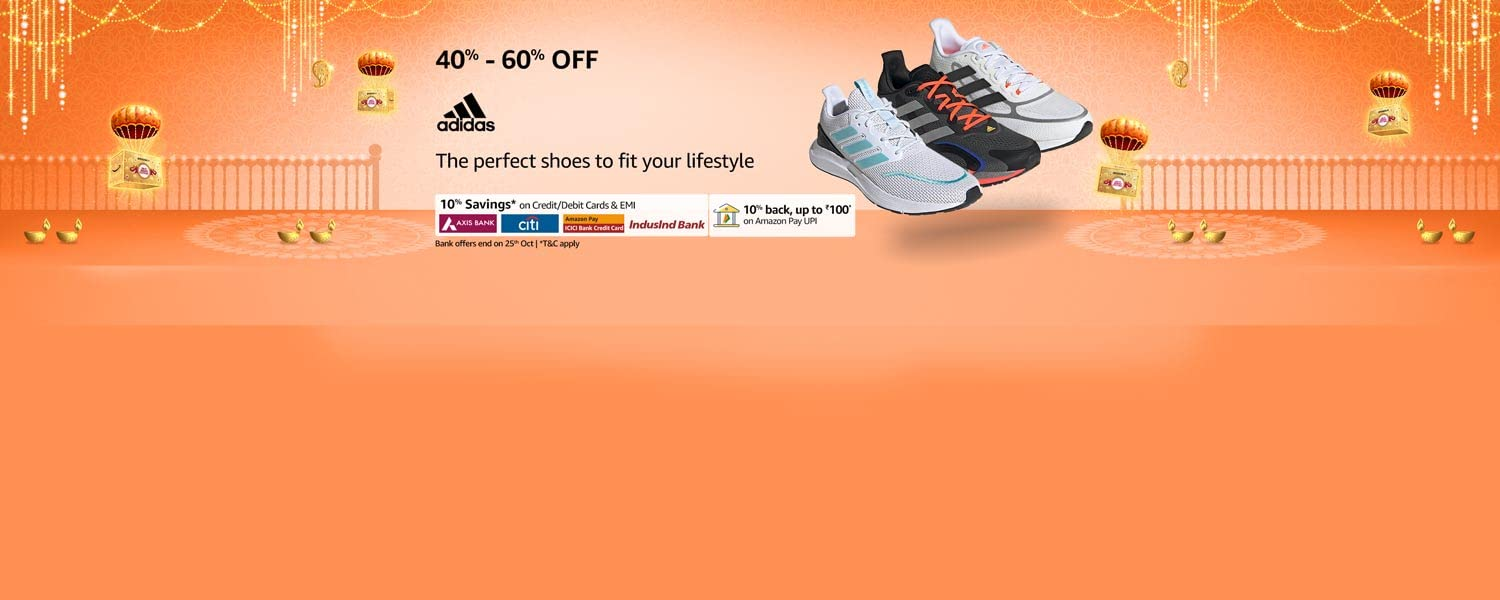 amazon.in - Up To 60% Off on Adidas Shoes