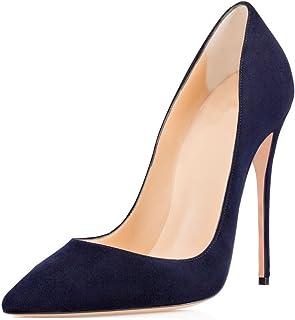 8c342e100f Amazon.it: scarpe decollete nere pelle - 8 - 12 cm / Scarpe da donna ...