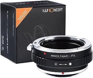 K&F Concept Adaptador Montaje de la Lente para la Lente Minolta(AF) Mount a la Cámara FX