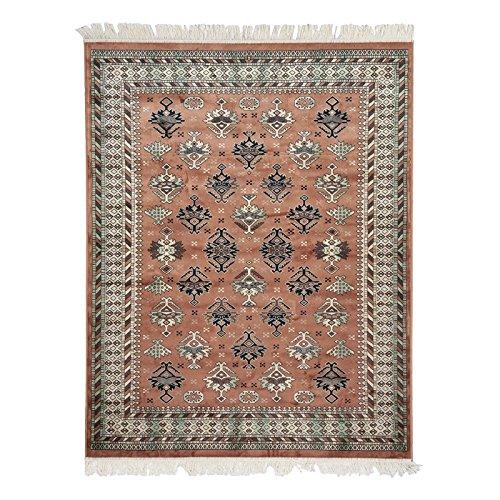 MonBeauTapis 510104 Shirvan Teppich, Viskose, 100 x 140 cm, Braun