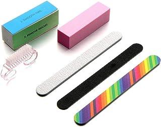 مجموعة ادوات العناية بالاظافر من 6 قطع تتضمن فرشاة و4 مبارد من بينها مبرد مكعب متعدد الاستخدامات واسفنجة تلميع (نمط بي)