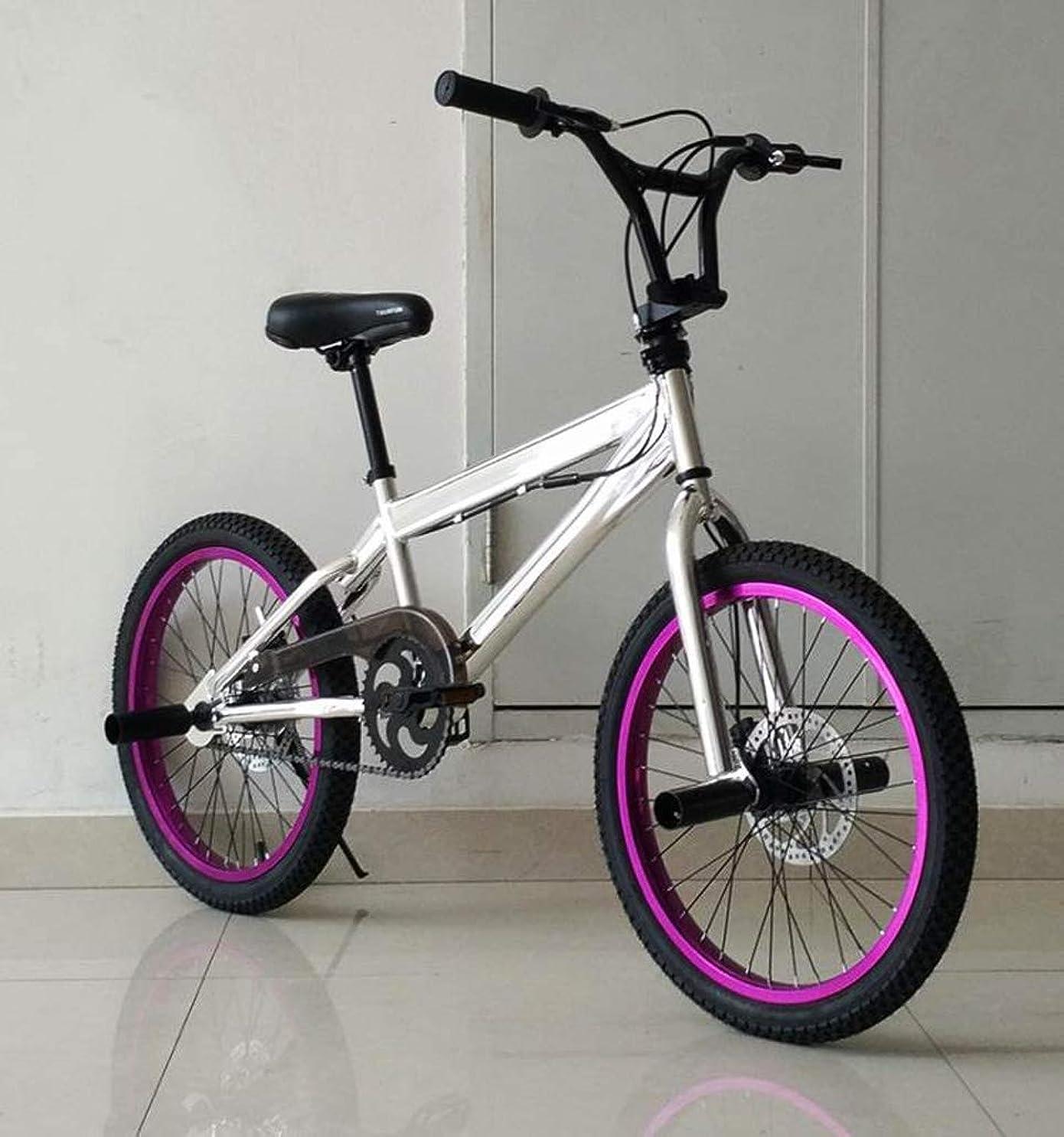 症候群天才うまくやる()BMX 自転車 高度なライダーストリートBMXバイク初心者レベルに適した20インチBMXバイク、スタントアクションファンシーBMX自転車、,J