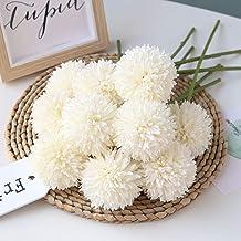 Homyu Artificial Flowers Chrysanthemum Ball Flowers Bouquet 10pcs Present for Important..