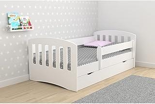Children's Beds Home - Lit simple classique 1 place – pour enfants tout-petits junior – Taille 160 x 80, couleur blanc, ti...