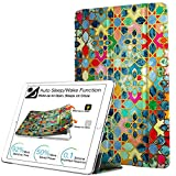 DuraSafe Cases For iPad Mini 1st Gen / Mini 2nd Gen / Mini 3rd Gen - 7.9 Slimline Series Lightweight Protective Cover with Dual Angle Stand & Clear PC Back Shell - Damask