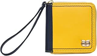 Chumbak Border Stitch Mini Wallet - Mustard