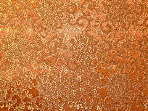 Orientalischer Brokat-Kleiderstoff, Meterware, goldfarben