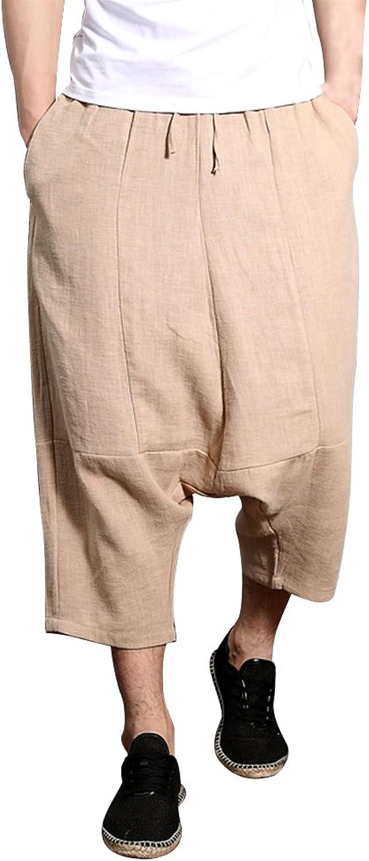 4424e298b Zhuhaitf Breathable Cool Linen Casual Pants Mens Low Credch Hippie Hippie  Hippie Harem Pants 035c70