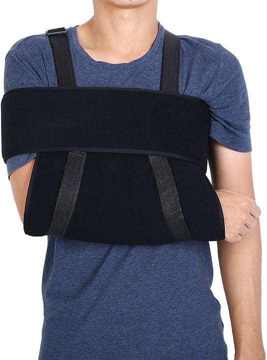 Tutore per la spalla regolabile con immobilizzatore per il braccio, traspirante - brino Brinow7ygam690f-03