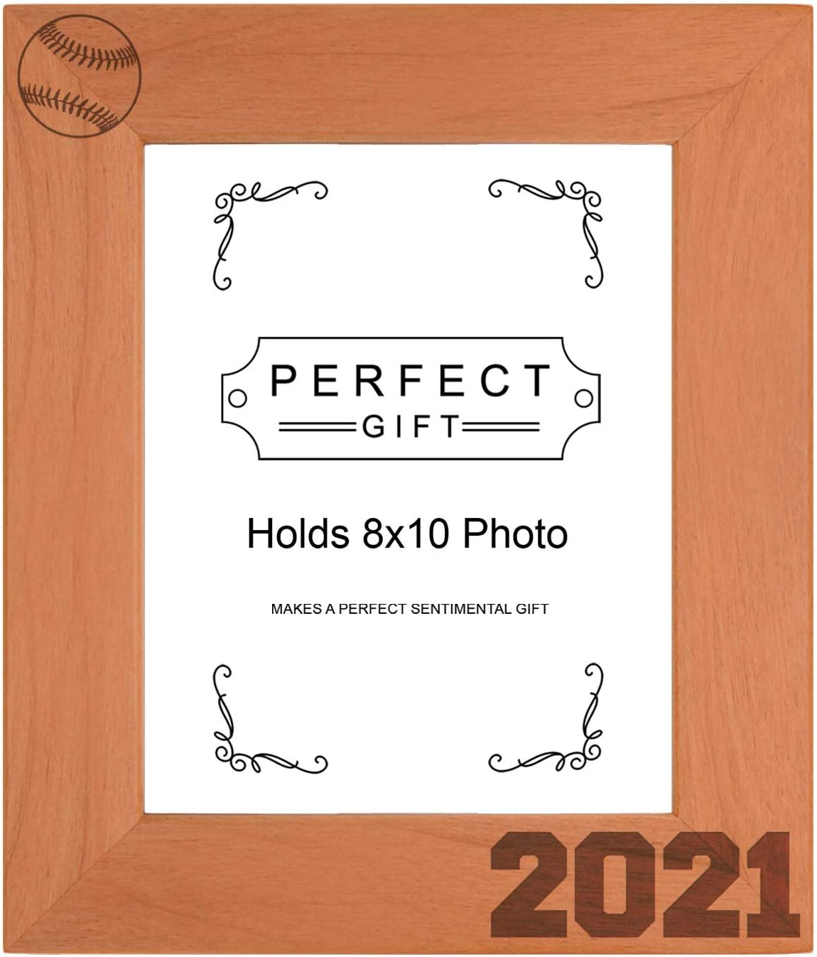 Sentimental Photo Frame Baseball 2021 Max Latest item 52% OFF Wood 8x10 Portrai Engraved