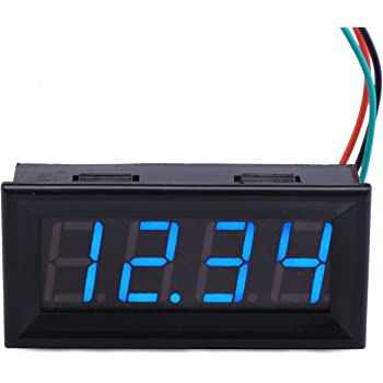Drok 100282 0 56 Digital Dc Voltmeter Panel Volt Meter Gauge Led Display 0 300v Voltage Tester Amazon Com Industrial Scientific