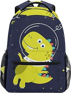 Espacio De Dinosaurio Amarillo Mochila Escolar Impermeable Mochilas Escolares para Estudiante Adolescentes Niñas Niños