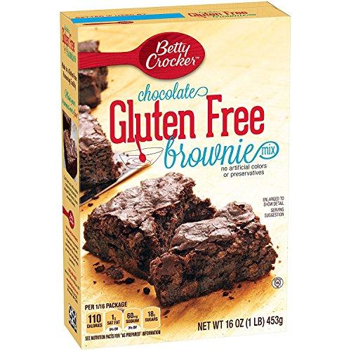 Betty Crocker Gluten Free Brownie Mix, Chocolate 16 Oz 4 Packs