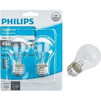 Phillips 390773 40 Watt Long Life Home Appliance Light Bulb 2 Count