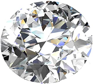 TOPGRILLZ Loose Diamond Moissanite D Colorless Brilliant Round Cut VVS1 Gemstones for Jewelry Making, 0.1CT-4CT Certificate of Authenticity