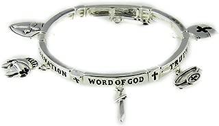 4031441 Armor of God Charm Bracelet Stretch Christian Scripture Word of God