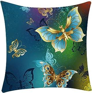 Colorido almohada decorativas funda mariposas Butterfly jardín sala de estar 30 x 50 cm