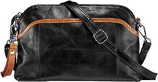 Lecxci Small Women's Soft Vintage Leather Crossbody Travel Smartphone Bag Wristlets Clutch Wallet Purse