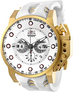 New Mens Invicta 25274 I-Force White Dial Chronograph Rubber Strap Watch